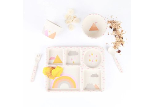 LOVE MAE Bamboo 5pcs set - Rainbow