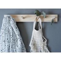Wooden peg rail - 4 hooks