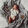 SNUGGLE HUNNY KIDS Organic muslin blanket - Storm