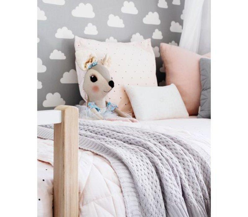 Diamond knit blanket - Warm grey