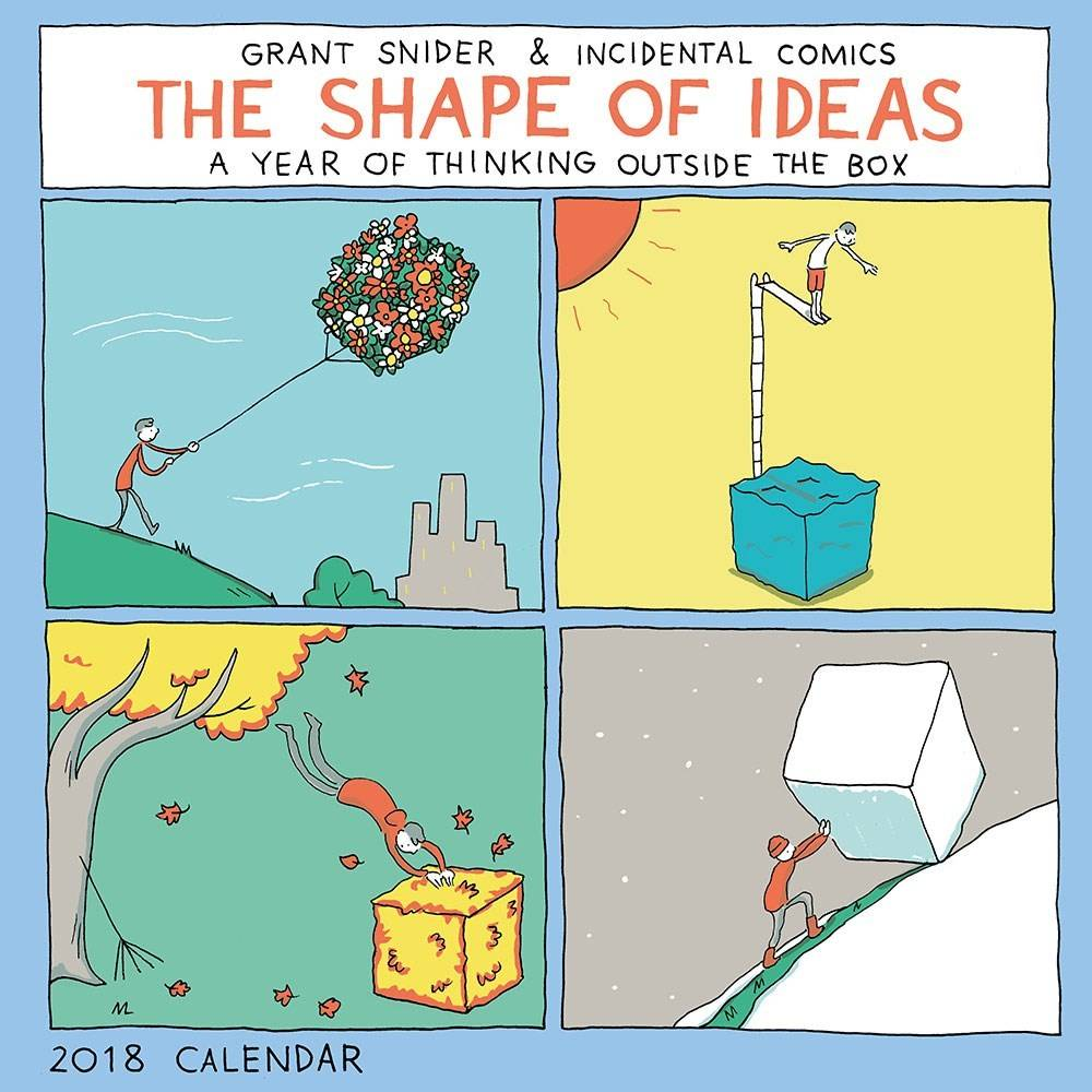 Abrams Calendars The Shape of Ideas (2018 Wall Calendar)