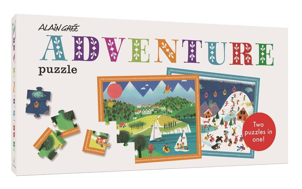 Alain Gree Adventure Puzzle (2 20-Piece Puzzles in 1)