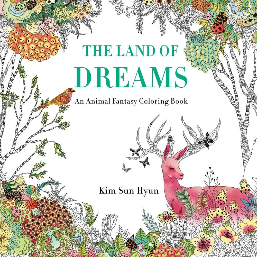 The Land of Dreams: Animal Fantasy Coloring Book - Linden Tree Books