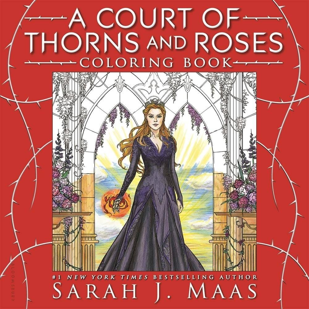 Bloomsbury USA Childrens A Court of Thorns and Roses Coloring Book