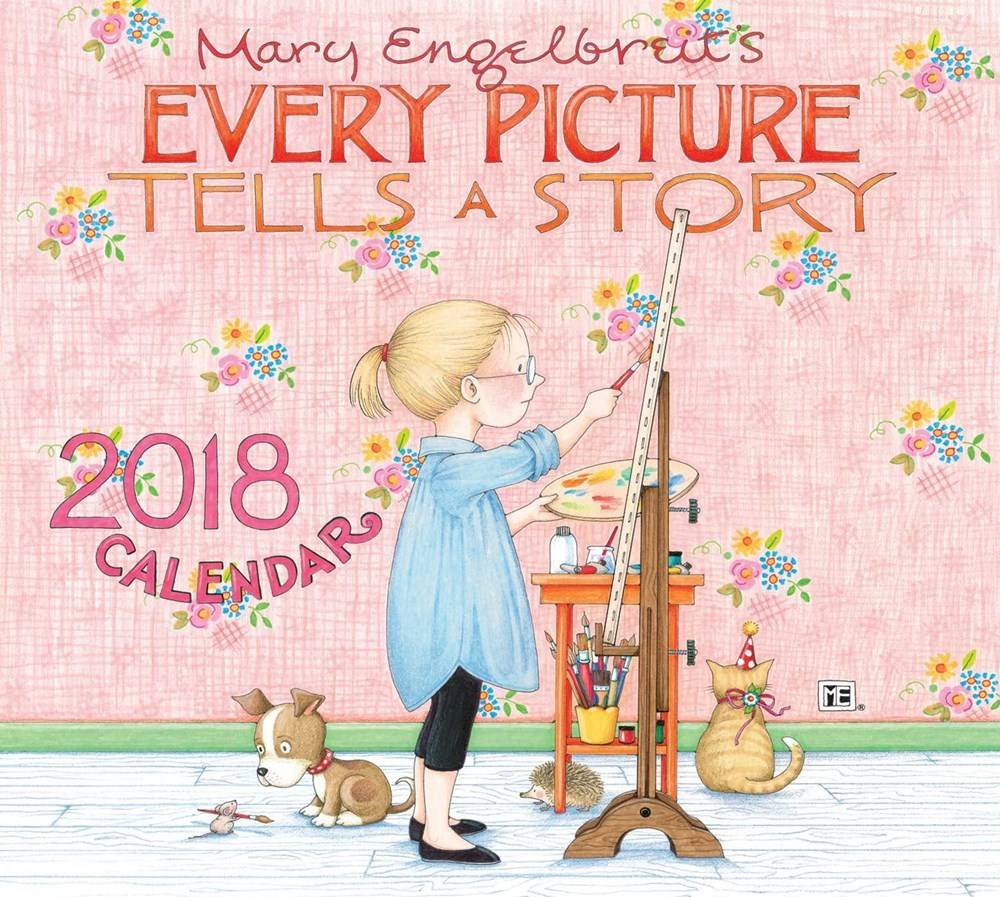 Andrews McMeel Publishing Mary Engelbreit (2018 Deluxe Wall Calendar)