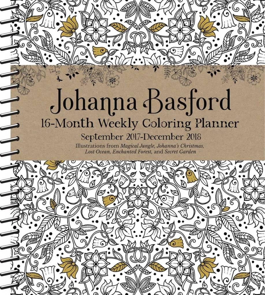 Andrews McMeel Publishing Johanna Basford (2017-2018 Coloring Weekly Planner Calendar)