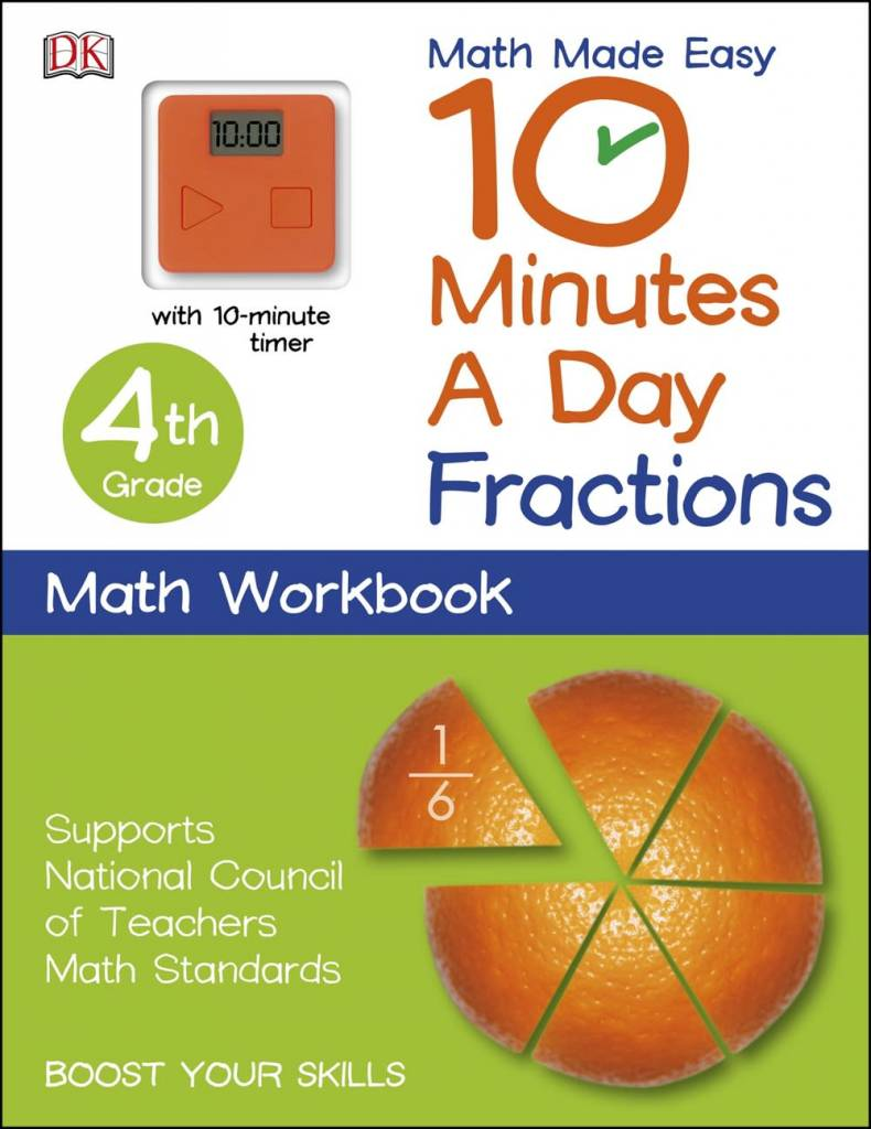10 Minutes a Day: Grade 4: Fractions