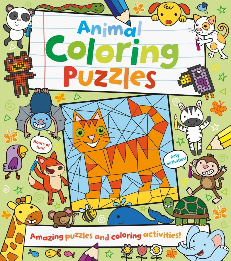 Arcturus Publishing Limited Animal Coloring Puzzles