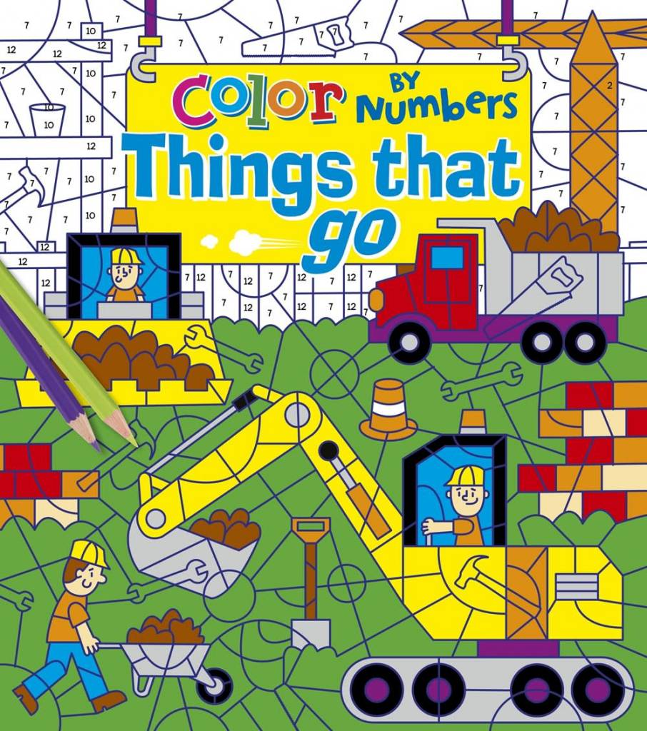 Arcturus Publishing Limited Color by Numbers: Things That Go ...