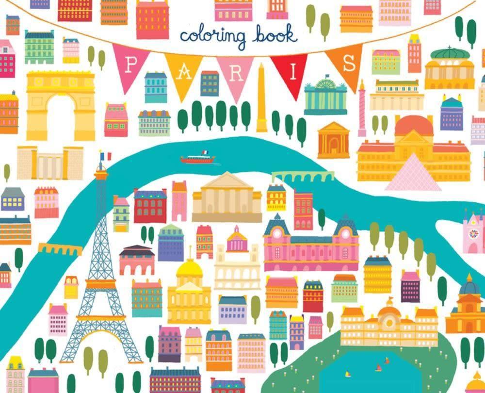AMMO Books Paris Coloring Book: Mini Edition