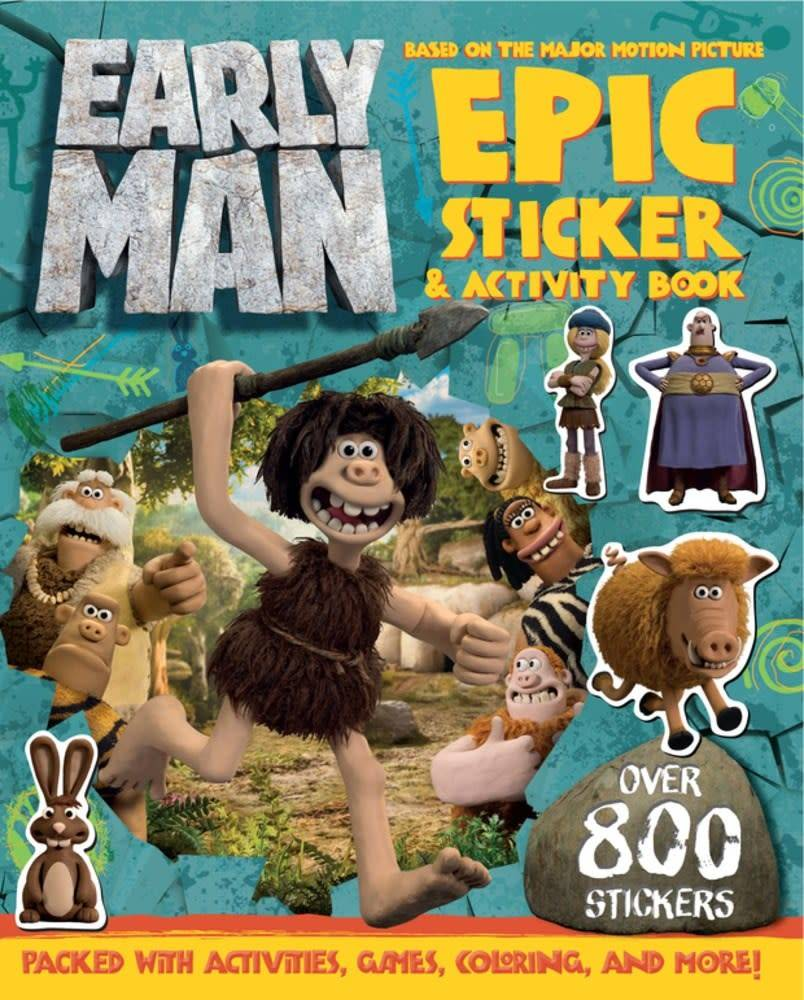 Sky Pony Press Early Man Sticker and Activity Book