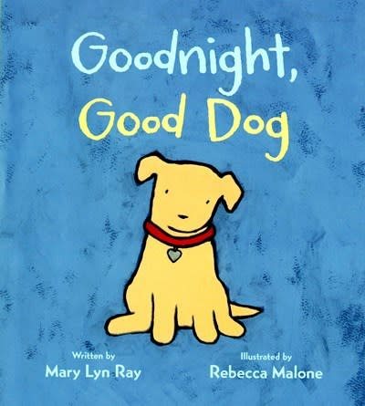 goodnight good dog padded board book with flocked cover linden