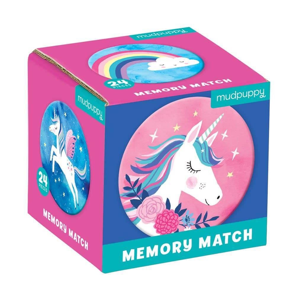 Mudpuppy Unicorn Magic Mini Memory Match Game