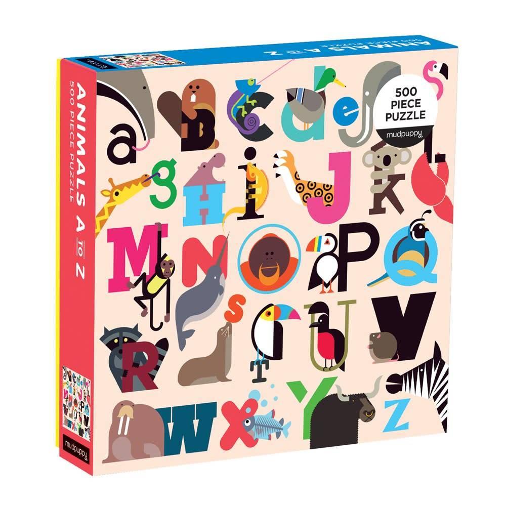 Mudpuppy Animals A-Z 500 Piece Puzzle