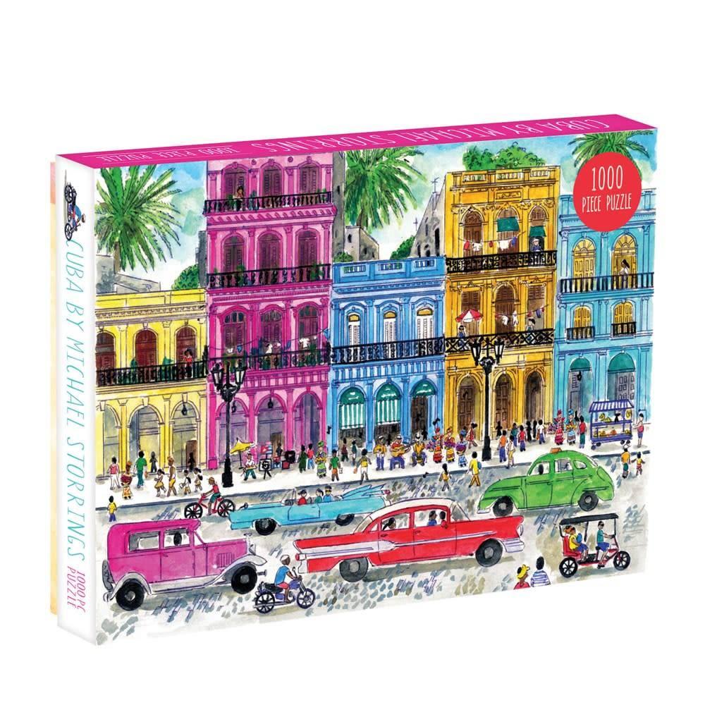 Galison Michael Storrings Cuba 1000 Piece Puzzle