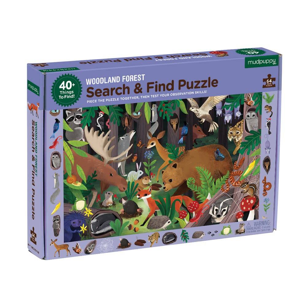 Mudpuppy Woodland Forest Search & Find Puzzle