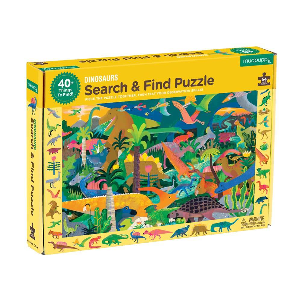 Mudpuppy Dinosaurs Search & Find Puzzle