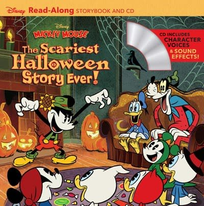 Disney Press Disney Mickey Mouse: The Scariest Halloween Story Ever! Read-Along Storybook and CD
