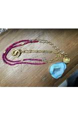 Holly Zaves Wht Sapphire & Pnk Chalcedony Druzy