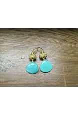 Holly Zaves Green Chalcedony/Gold Earrings