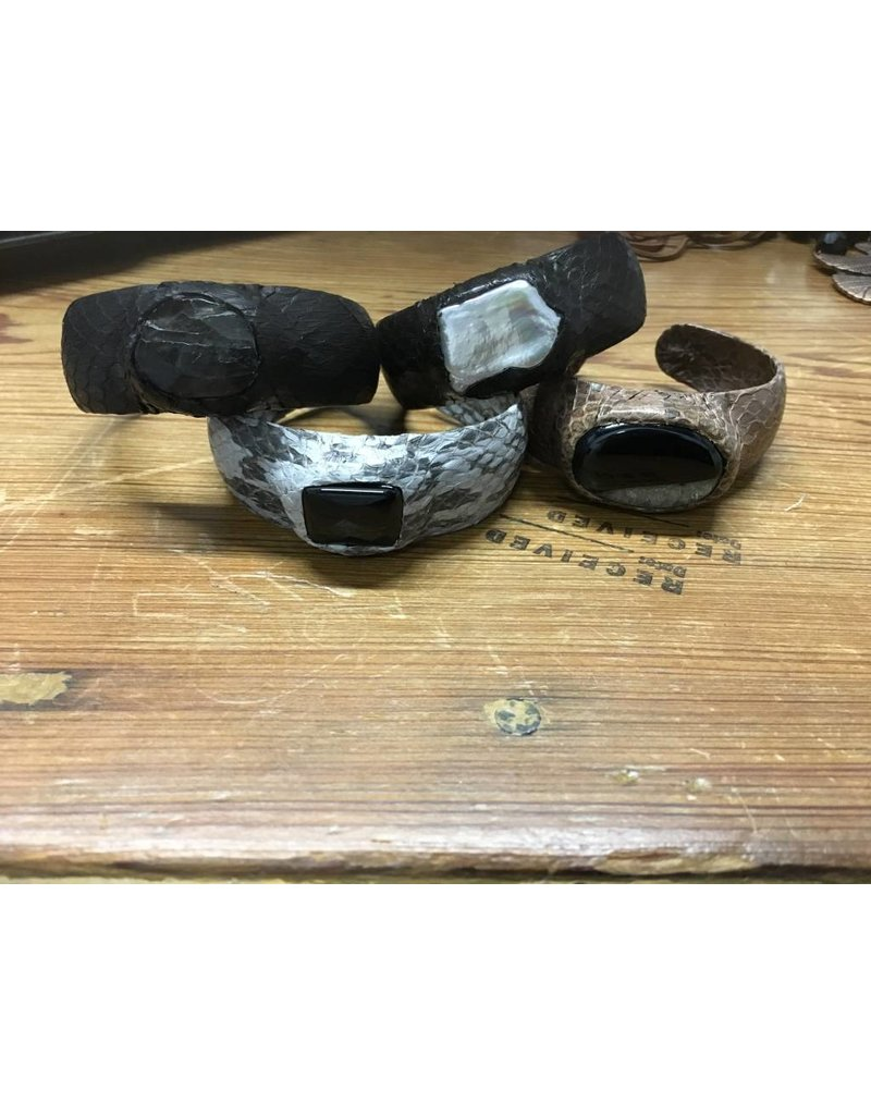 Snakeskin/Stone Cuff