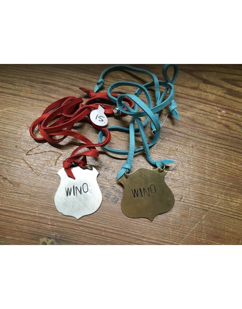 """""""Wino"""" Leather Necklace"""