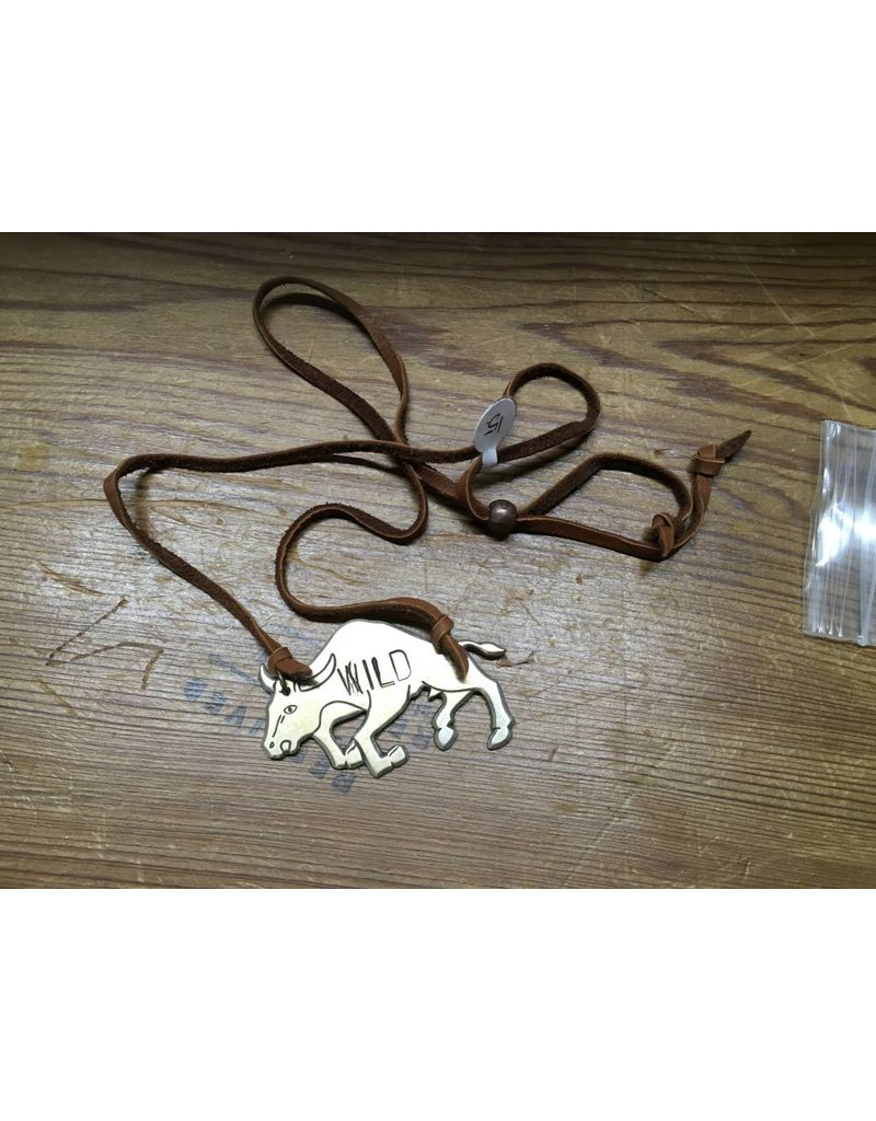 """""""Wild Bull"""" Leather Necklace"""