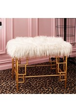 Two's Company Faux Fur Bench