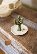 Kalalou Ceramic Cactus Ring Holder