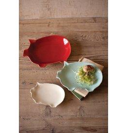 Kalalou LG Pig Plate (Red)