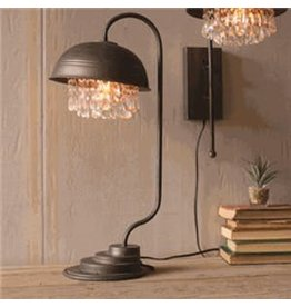 Kalalou Metal Dome Table Lamp with Gems