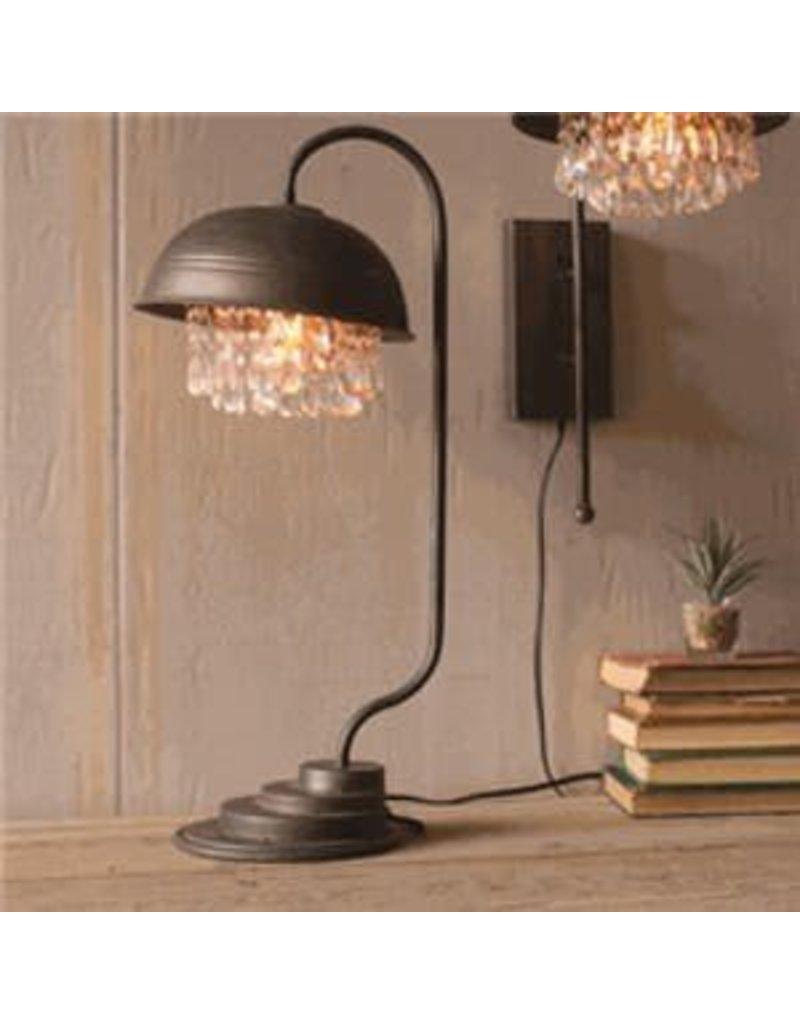 Kalalou Metal Dome Table Lamp With Gems