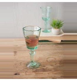 Kalalou Set of 4 recycled wine glasses