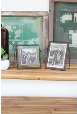 Kalalou Square Glass Frame w/Metal Trim