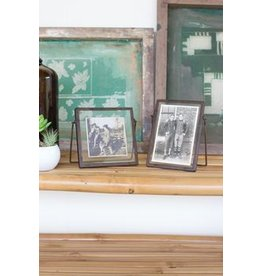 Kalalou Square Glass Frame w/Metal Trim