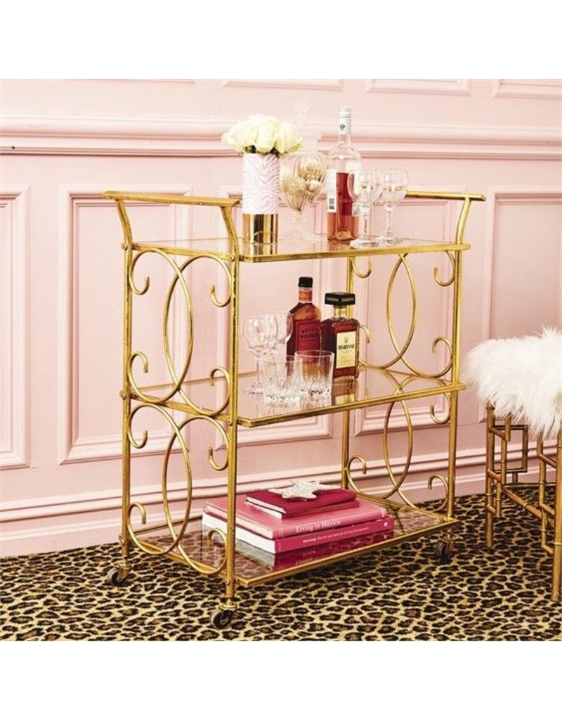 Two's Company 51610 3 Tiered Bar Cart