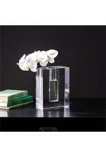 Two's Company Sixon Block Crystal Vase