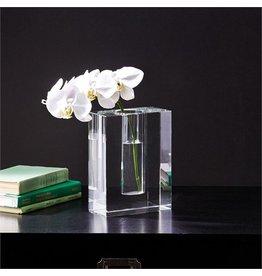 Two's Company Sixon Block Crystal Vase