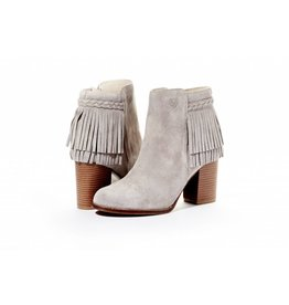 Rebel With Cause The Hustle Gray Fringe Bootie