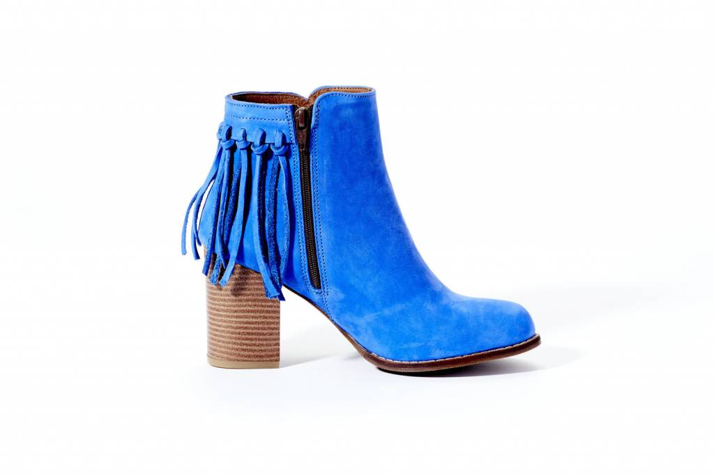 Rebel With Cause The Royal 2 Blue Fringe Bootie