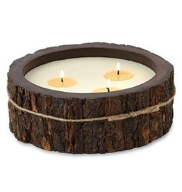 Himalayan Trading Post Large Tree Bark Candle- Ginger Patchouli