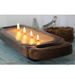 Himalayan Trading Post Medium Candle Tray- Tobacco Bark