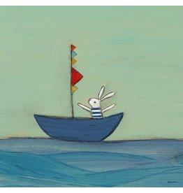 Greenbox Bunny in a Boat (6X6)