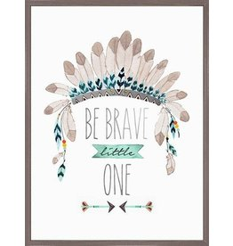 Greenbox Be Brave Little One-Framed (13X17)