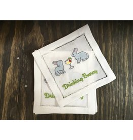 August Morgan Bunny Cocktail Napkins (Set of 4)