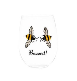 August Morgan Buzzed Stemless Wine Glasses (Set of 4)