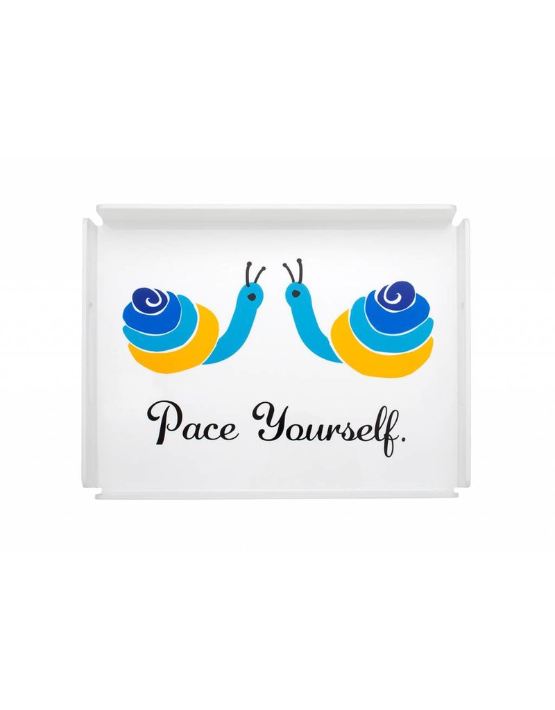 August Morgan Pace Yourself Tray
