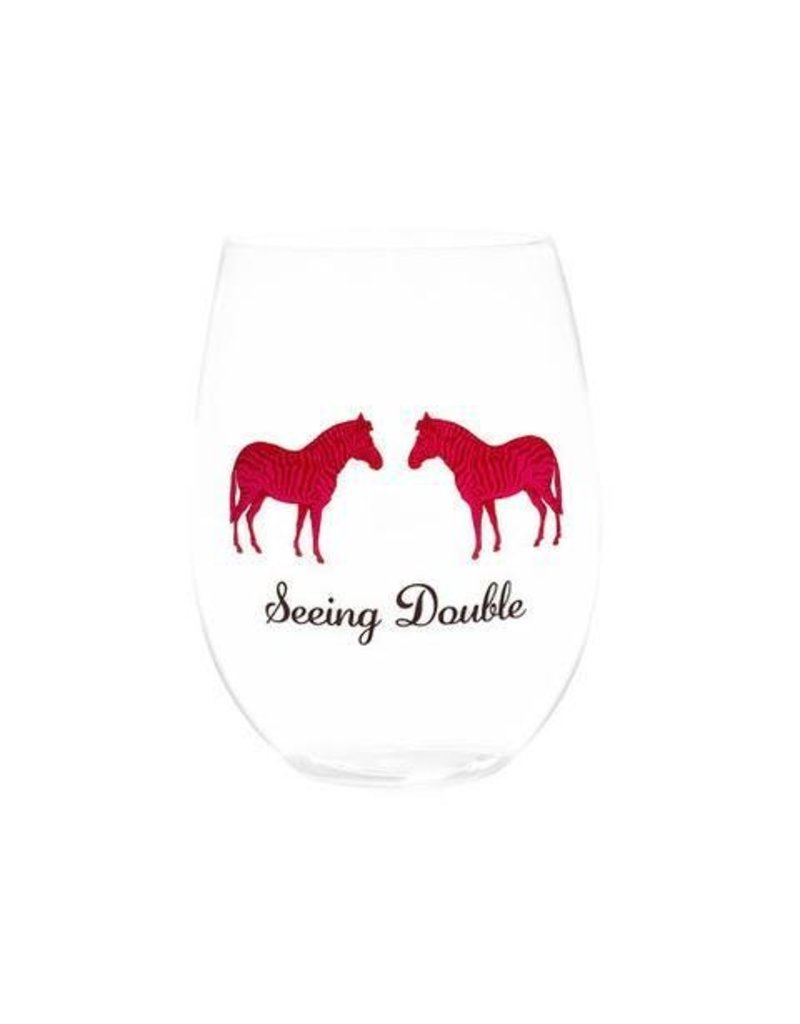 August Morgan Seeing Double Stemless Wine Glass