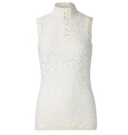 Rosemunde Delicia High Neck Slvless Lace Top