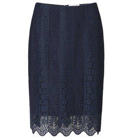 Rosemunde Lace Skirt w/Scallop Hem
